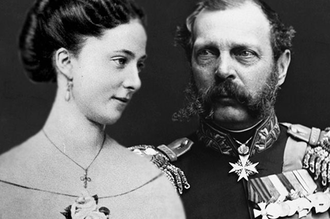 Император Александр II и Екатерина Долгорукова