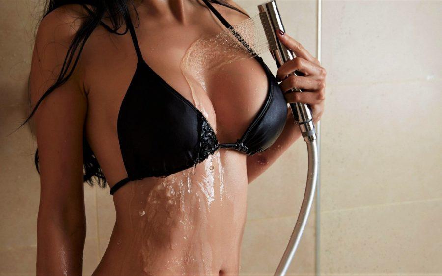 Мастурбация душем