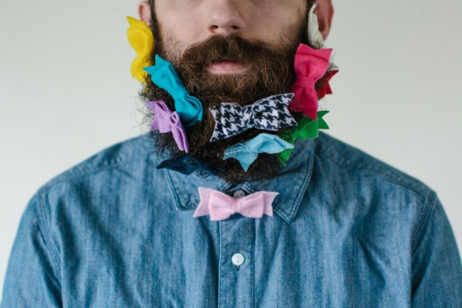 борода с заколками
