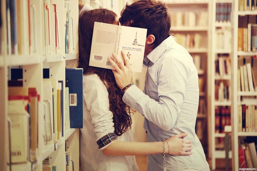 пара в библиотеке