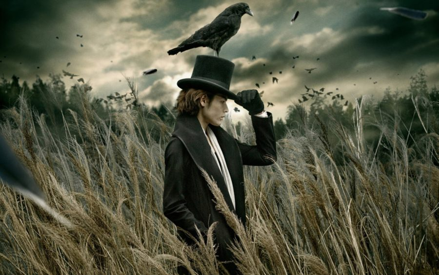 мужчина с птицей