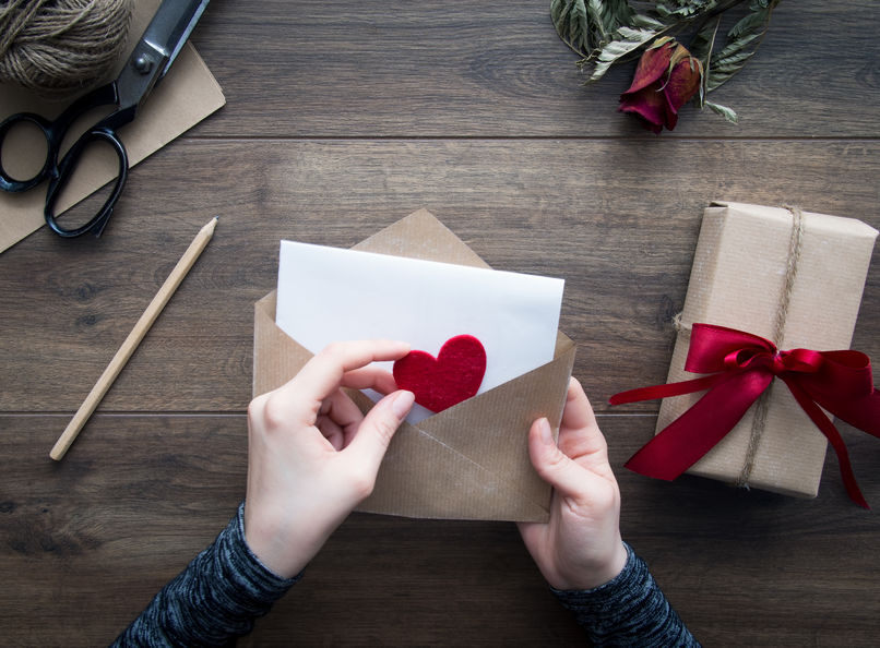 как написать любовное послание