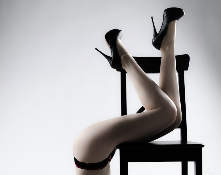 Ноги девушки в туфлях