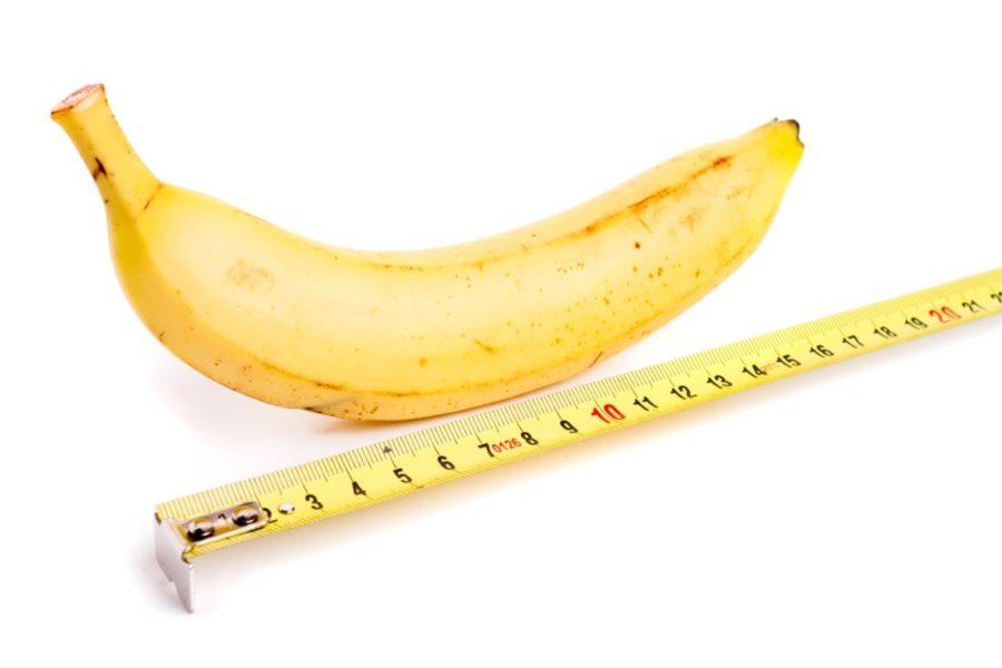 банан и линейка
