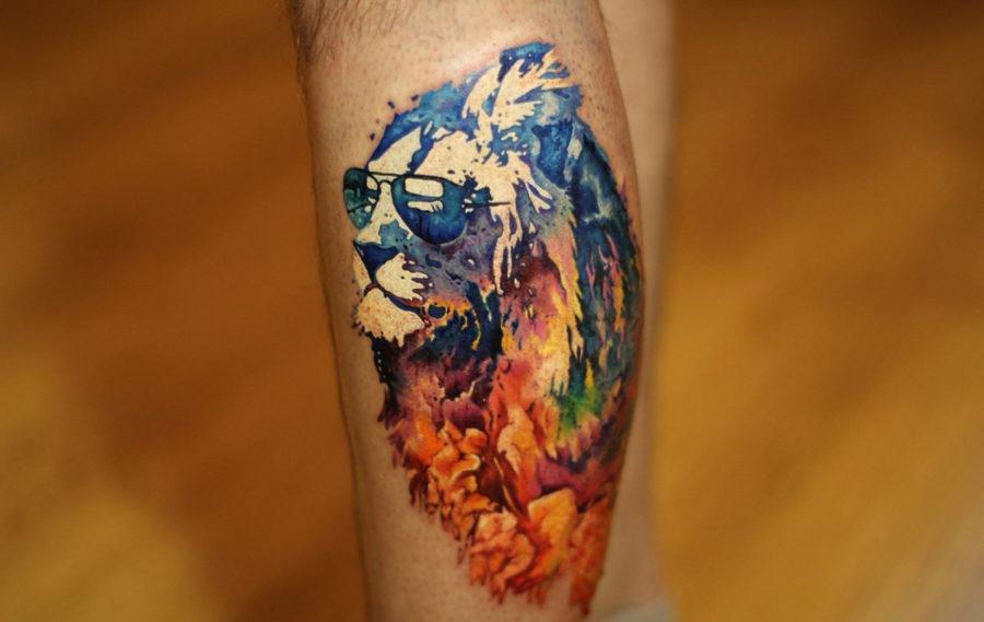 мужские тату цветные
