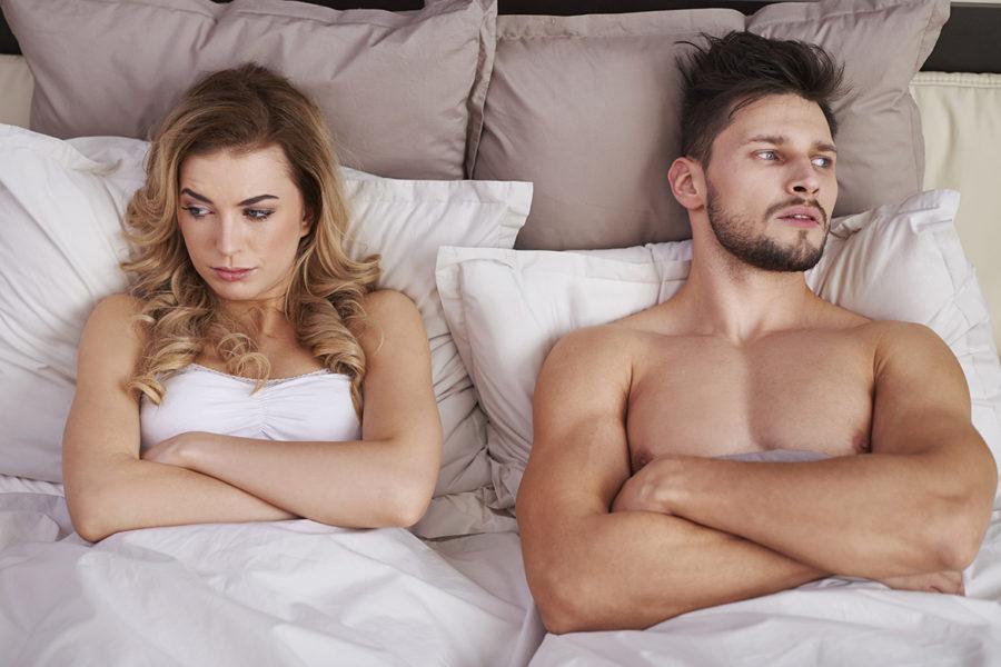почему во время секса падает член