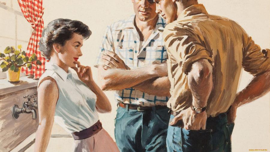 2 мужчин и девушка