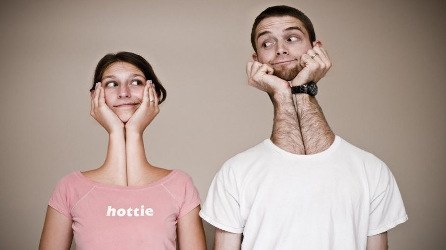 мужчина и женщина странная картинка