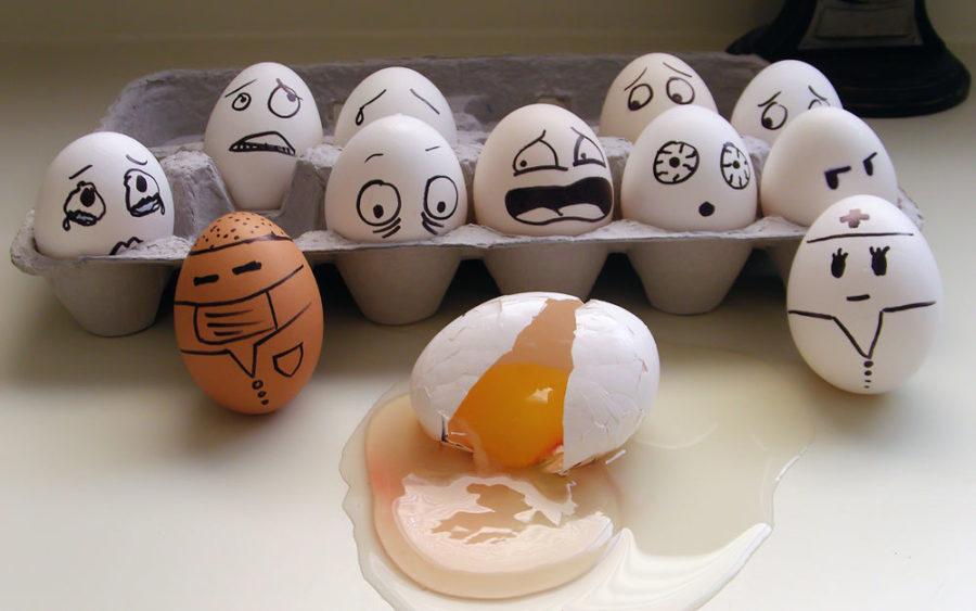 яйца в шоке
