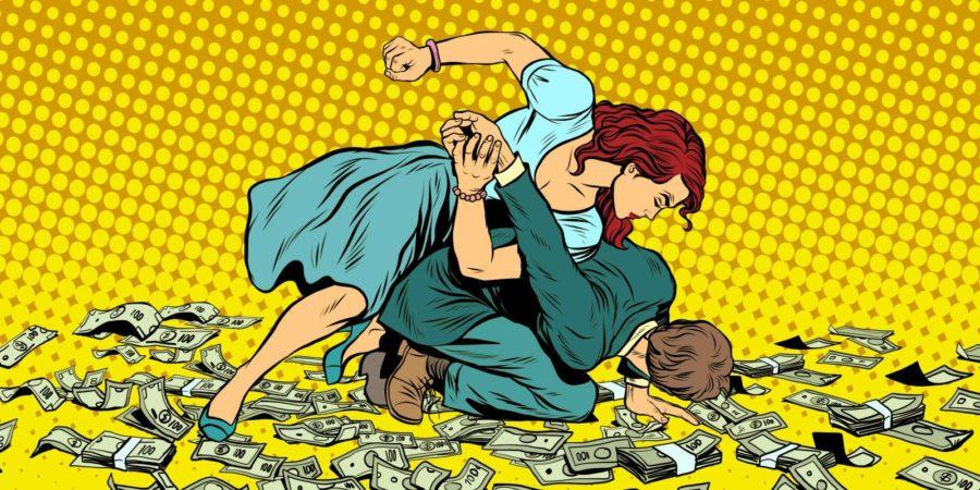 Драки в отношениях из-за денег