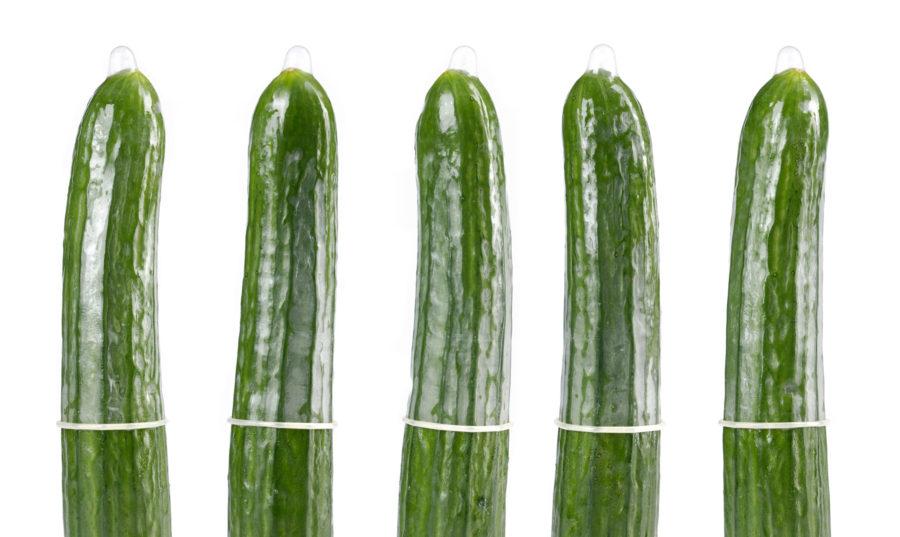 5 огурцов в презервативе