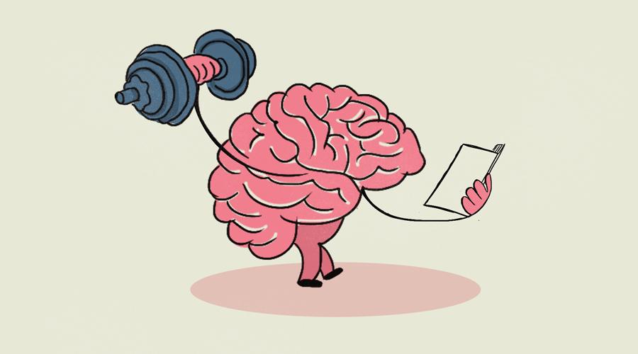 мозг с гантелей