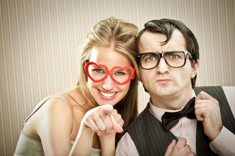мужчина и влюбленная женщина