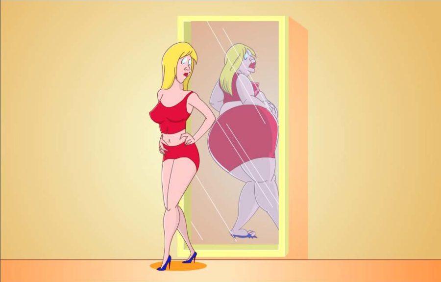 девушка в зеркале