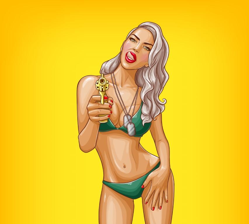 поп арт сексуальная девушка
