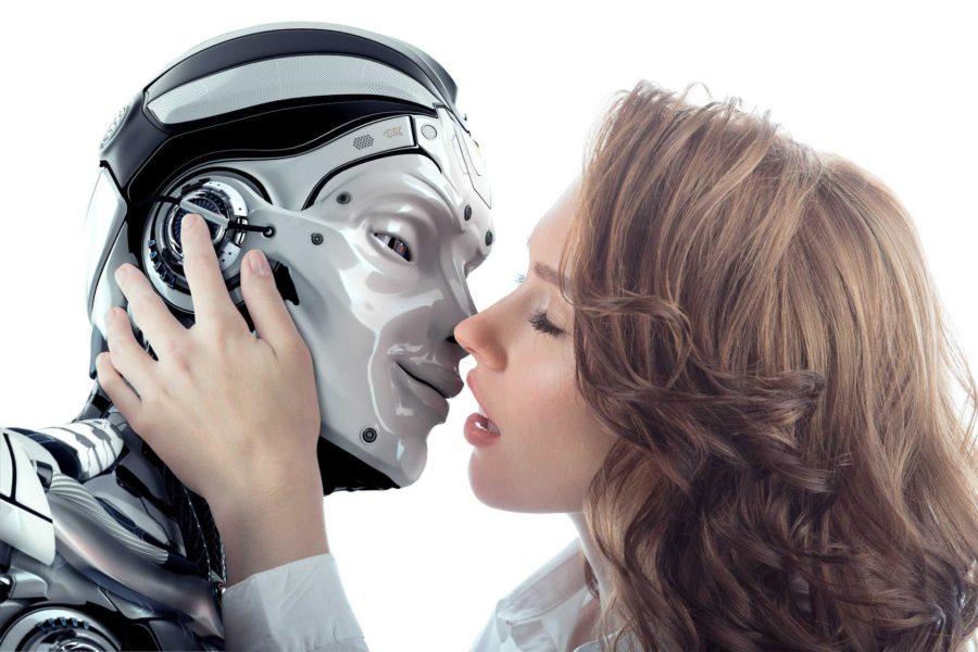 поцелуй с роботом