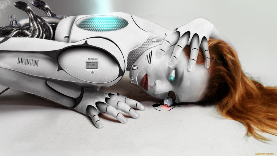 Секс с женщиной роботом
