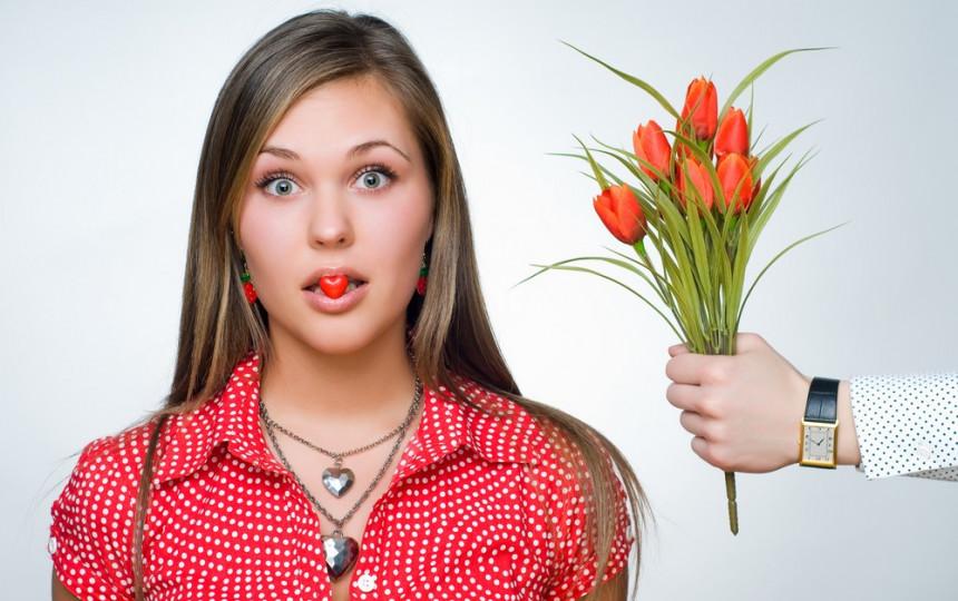 какие цветы дарить девушке на первом свидании