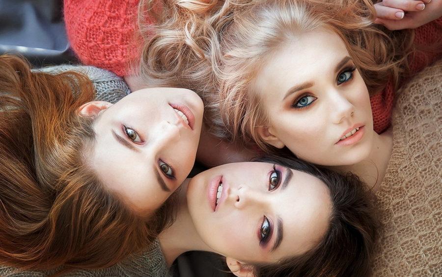 брюнетки блондинки и рыжие