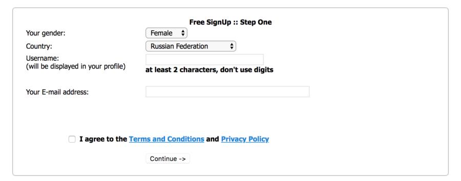 регистрация fdating