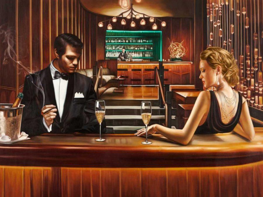 Парень и девушка за барной стойкой
