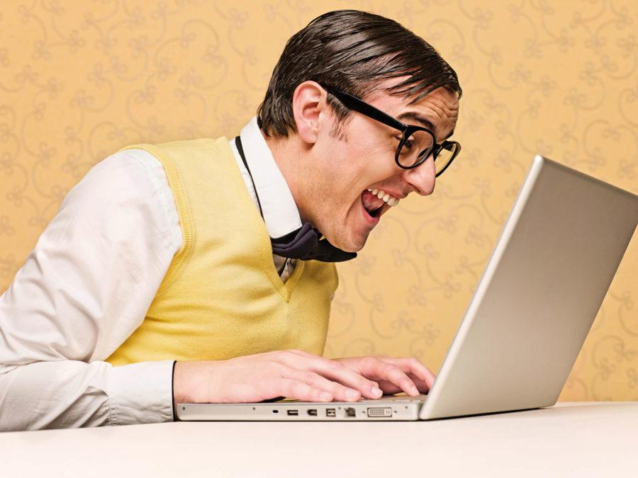 Парень с ноутбуком