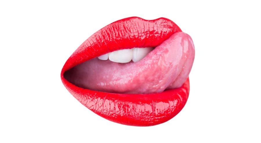 губы на белом фоне