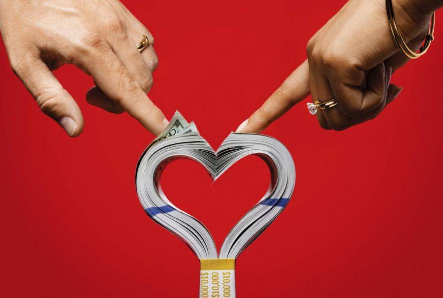сердце из денег