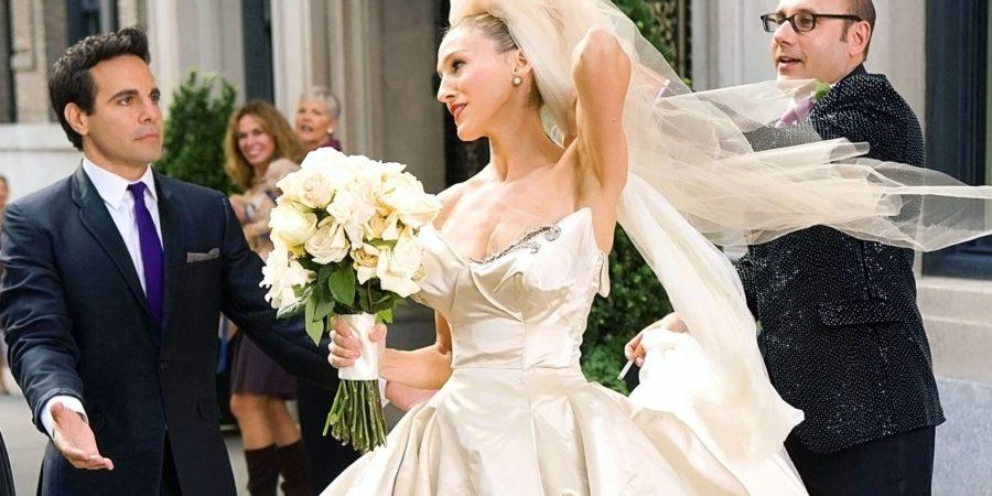 сара джессика паркер в свадебном платье