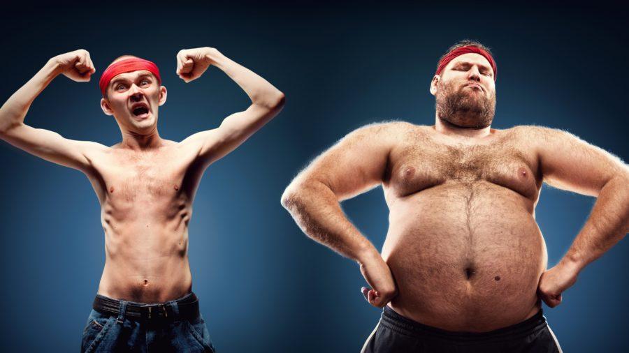 худой и толстый парень