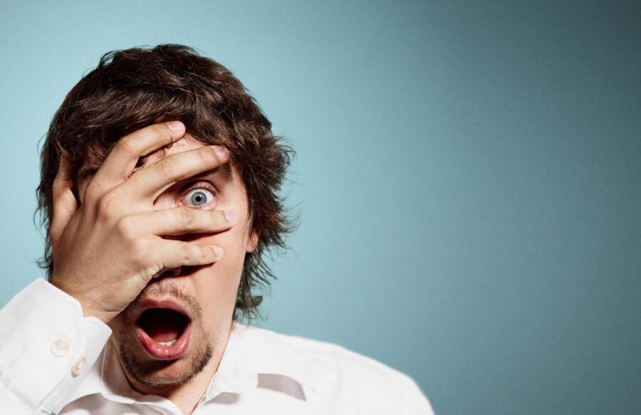 мужчина в шоке