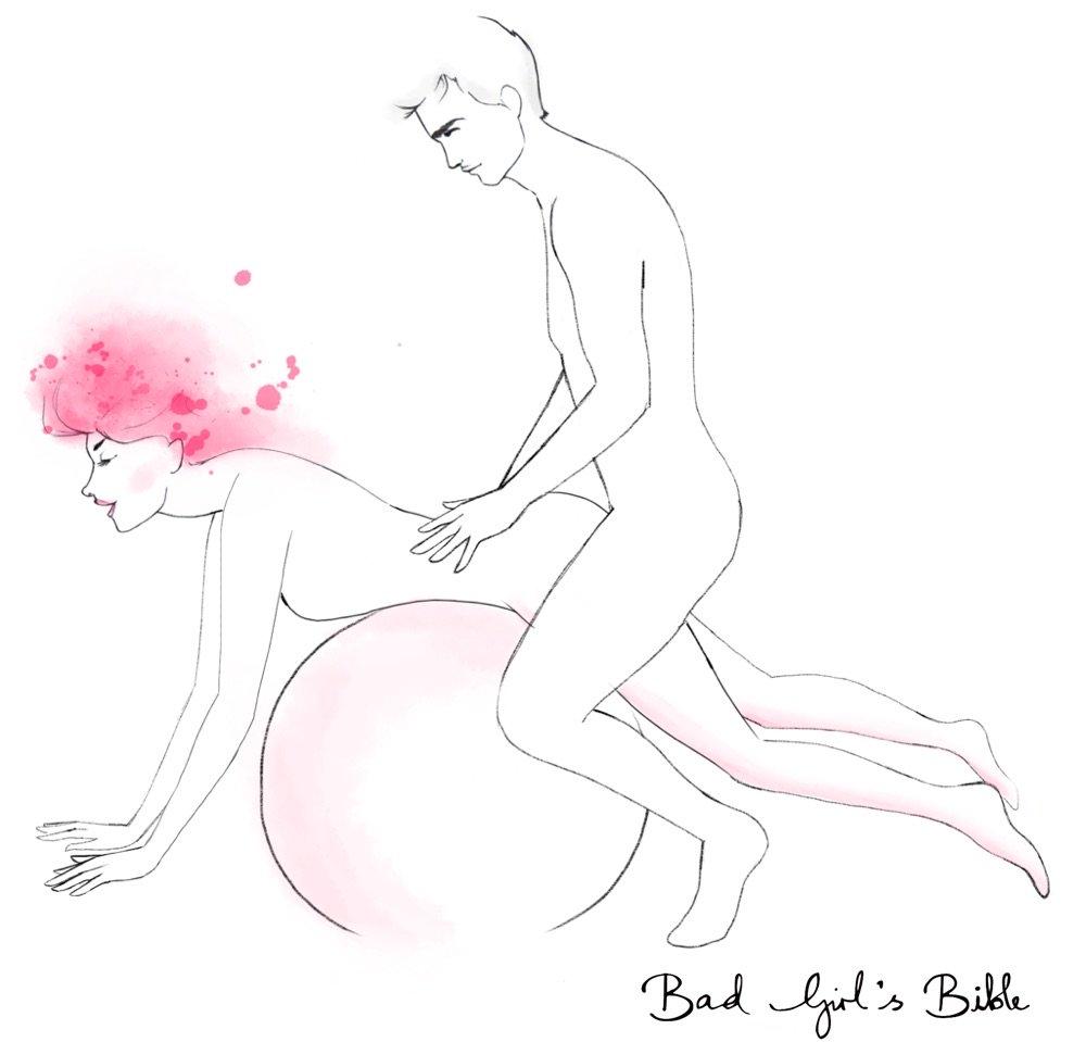 поза в сексе на шаре