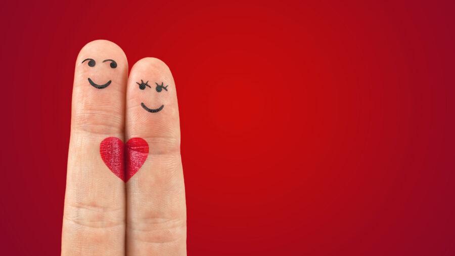 пальчики с сердечком