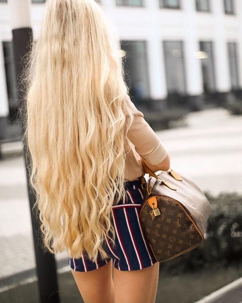 Красивые блондинки со спины: 87 ФОТО девушек сзади