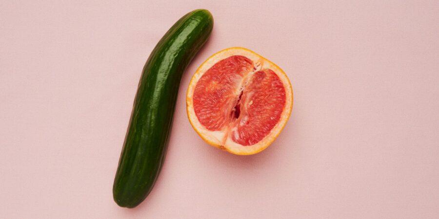 грейпфрут и огурец