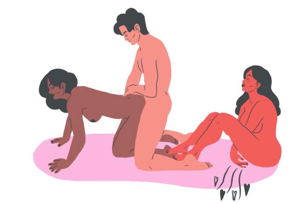 поза для секса втроем 5