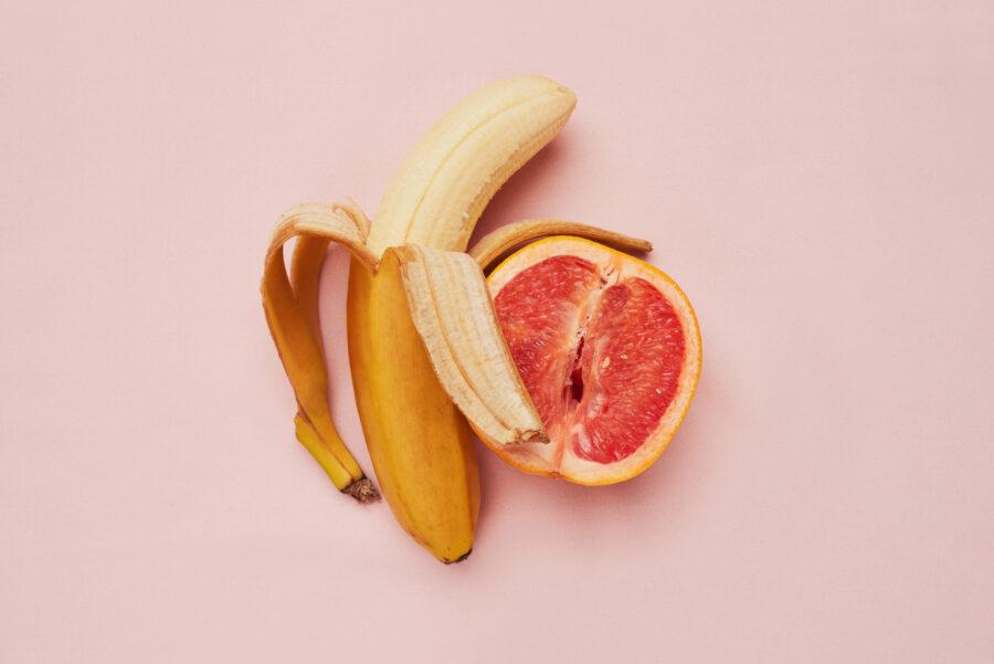 банан и грейпфрут