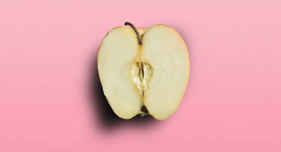яблоко в разрезе