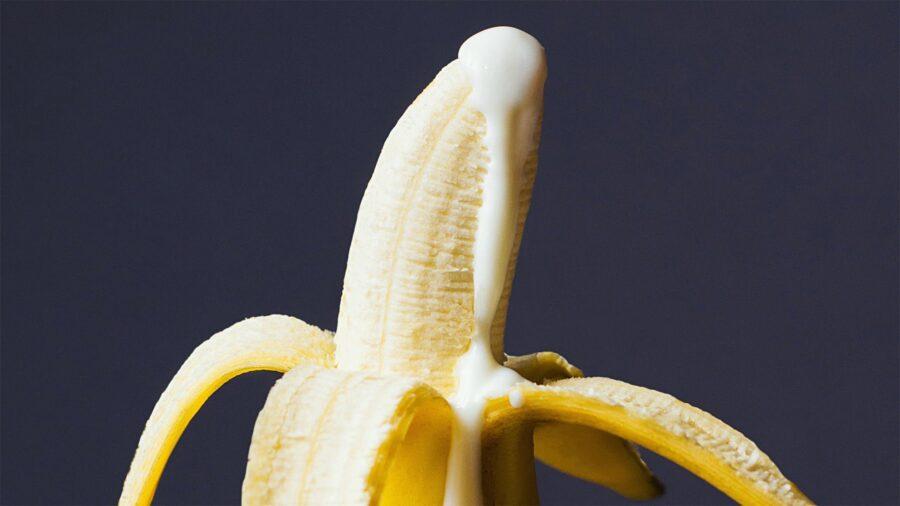 сливки на банане