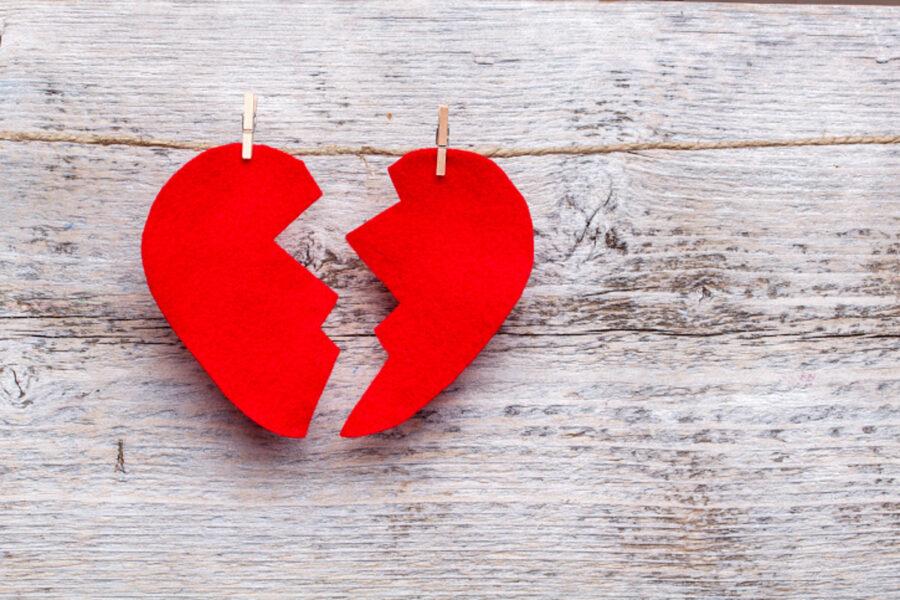 две половинки сердечка