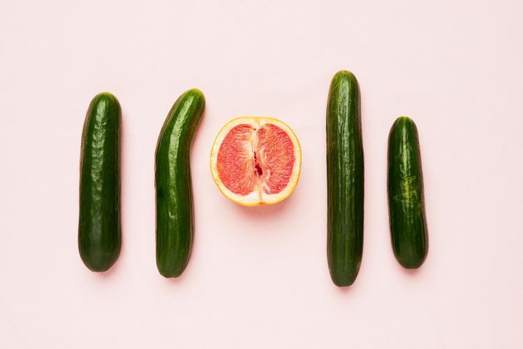 огурцы и грейпфрут