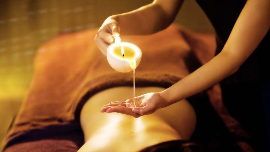 массаж со свечой для массажа