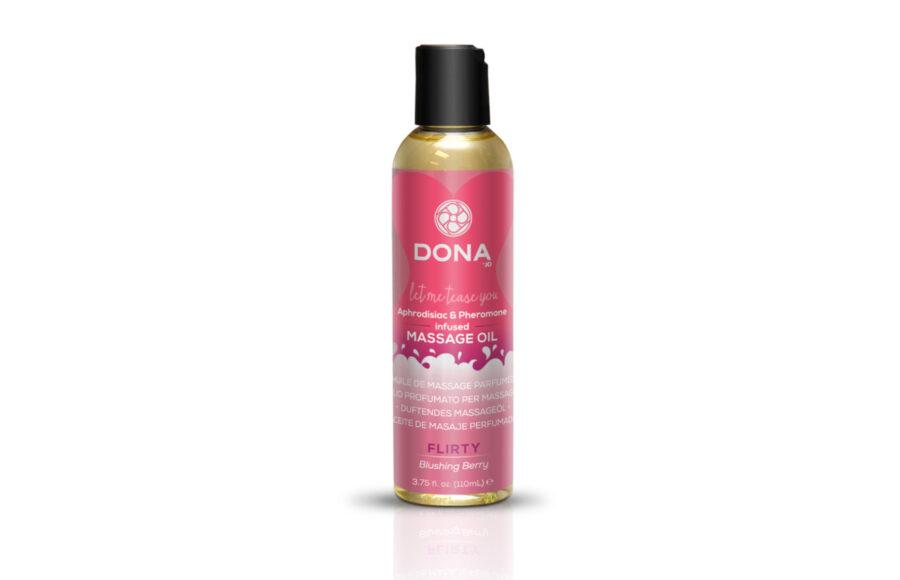 Массажное масло с феромонами DONA Flirty Blushing berry.