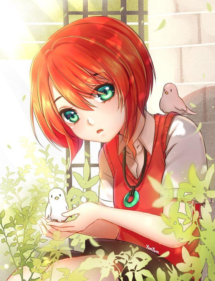 Аниме девушки с красными волосами - 30 красоток