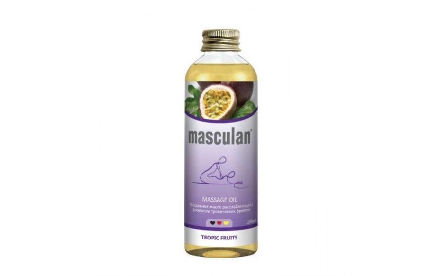 Масло массажное Masculan расслабляющее, с ароматом тропических фруктов.