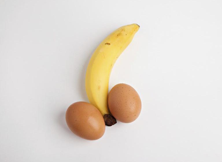 банан и яйца