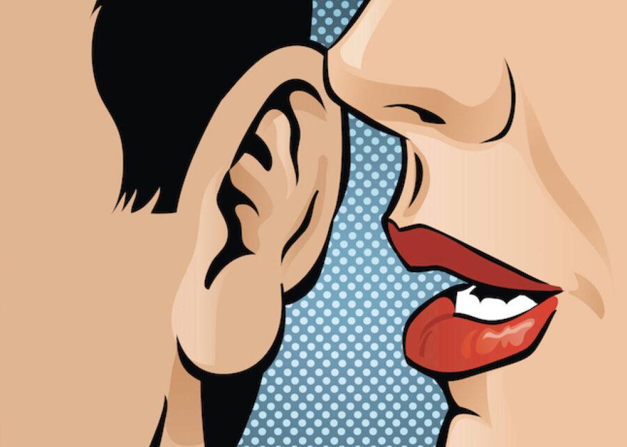девушка шепчет на ухо арт