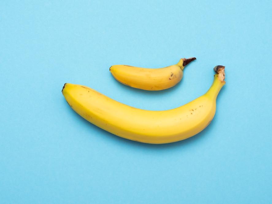 большой и маленький банан