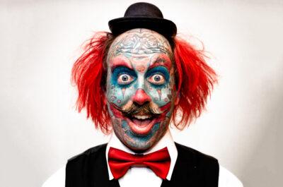 Нонсенс - клоун с ТАТУ по всему телу!