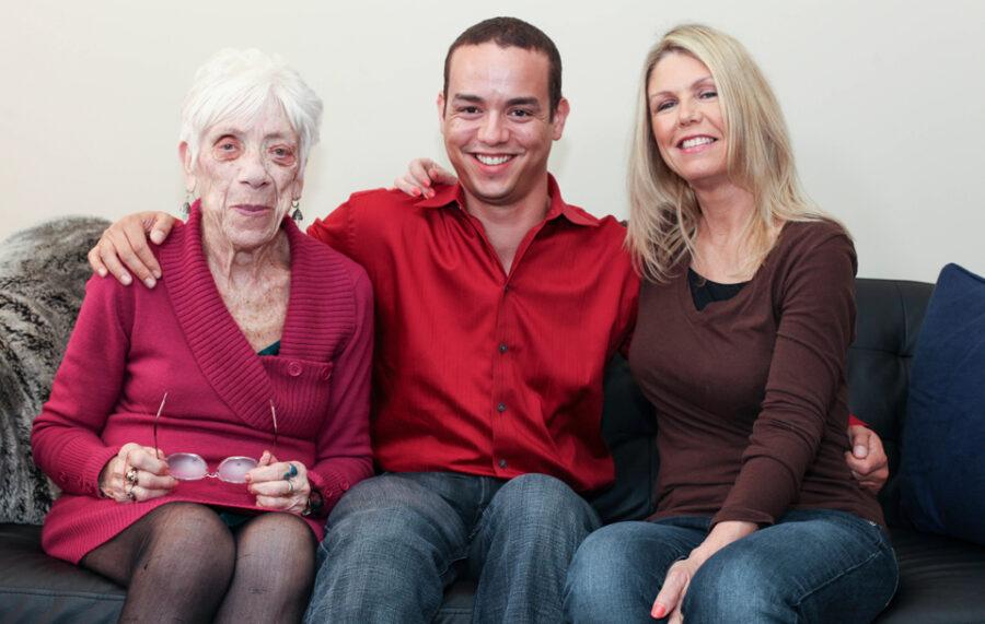 Кайл с матерью и Марджори